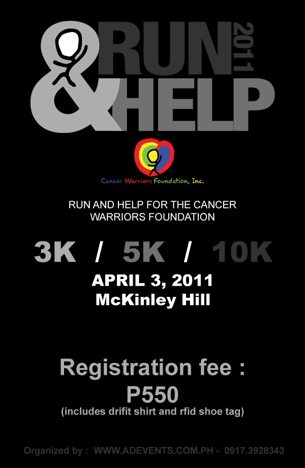 Run for Help for Cancer Warrior Foundation Poster