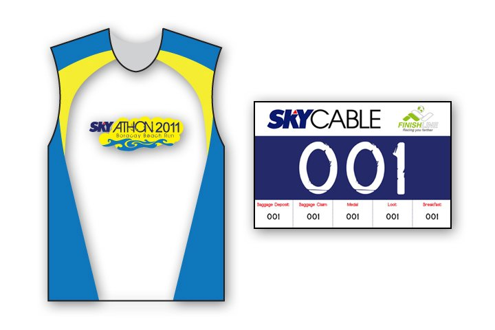 skyathon 2011 - singlet and bib