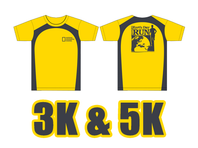 natgeo run 3k-5k shirt design 2011