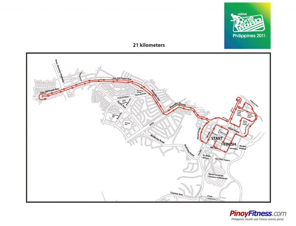 Adidas KOTR 2011 - 21K Race Map