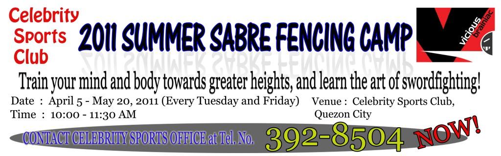 Celebrity Sports Club  summer fencing camp