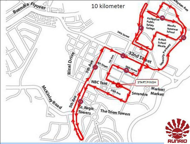 aace the good run 10k race map route