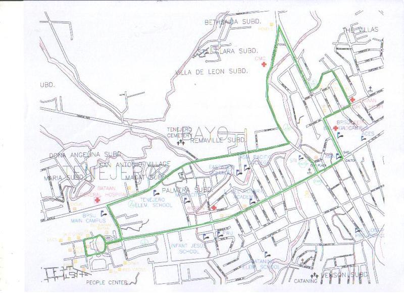 bataan-run-5k-map