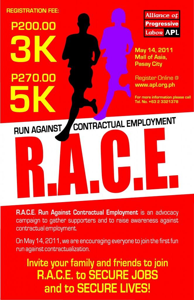 RACE Poster (Revised) - Fun Run 2011