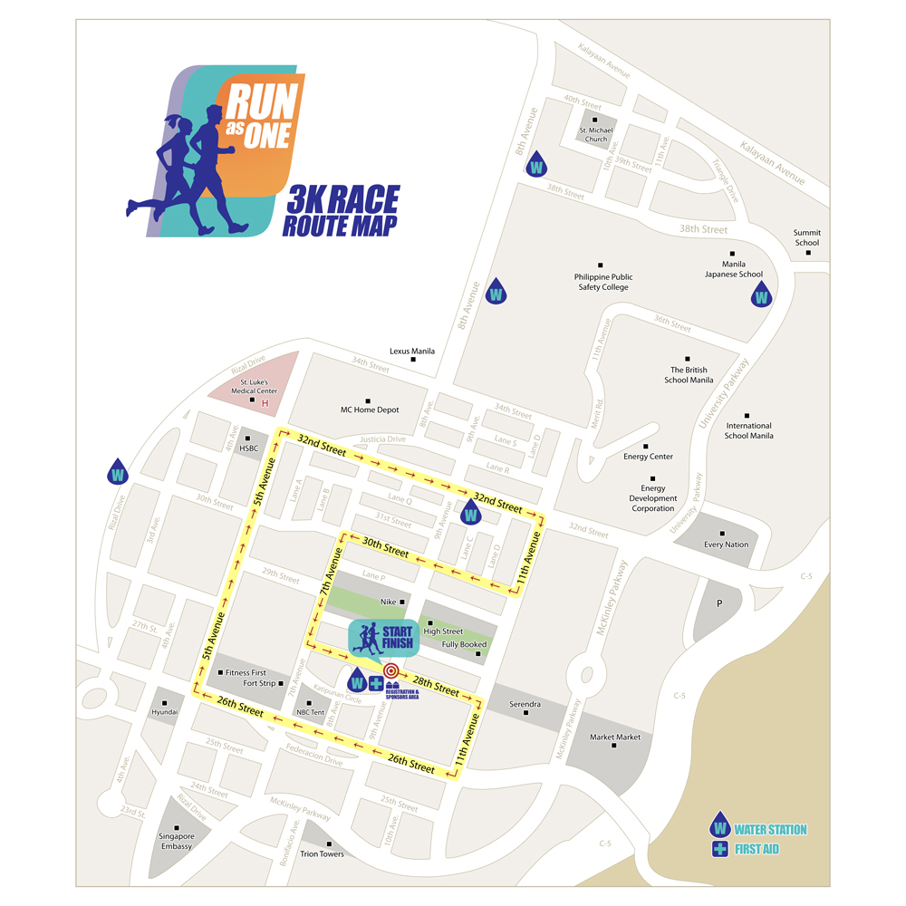 Run As One Race Route 3K