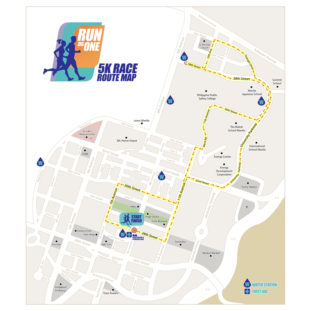 Run As One Race Route 5K