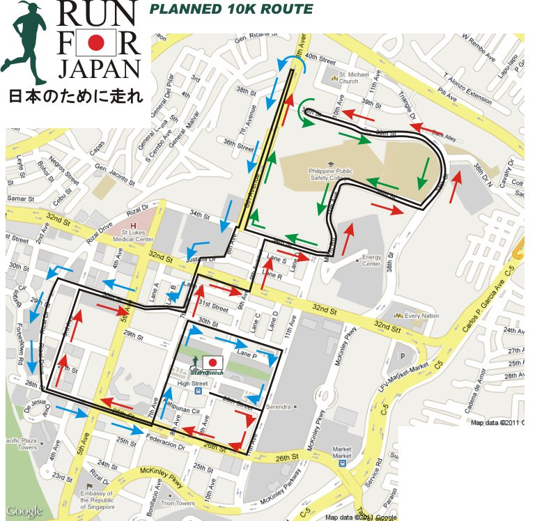 Run-For-Japan-2011-10k-map