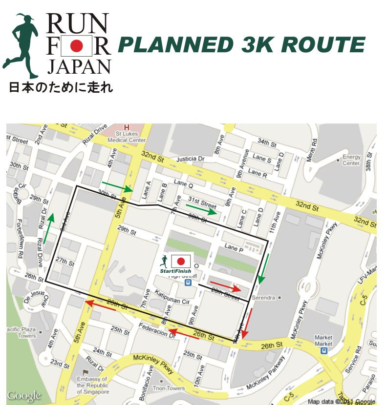 Run-For-Japan-2011-3k-map