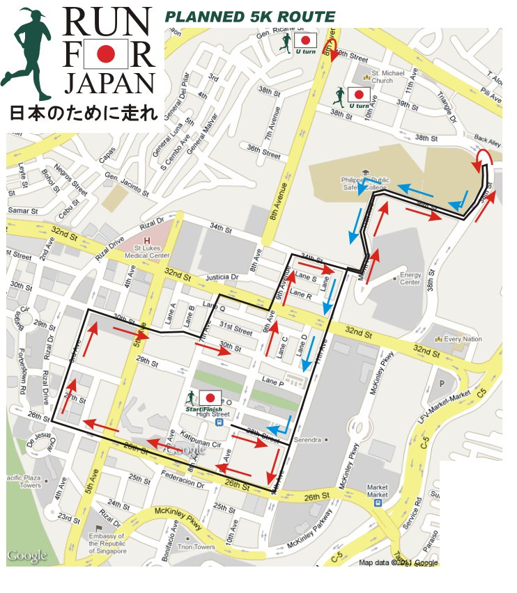 Run-For-Japan-2011-5k-map