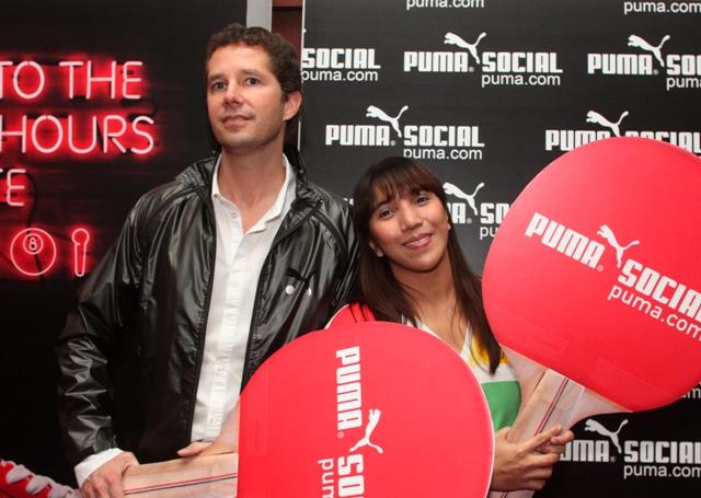 puma social - Joerg Zobel (Left) Puma General Manager for Asia Pacific and Teresa Liwanag Marketing Head for Puma Philippines
