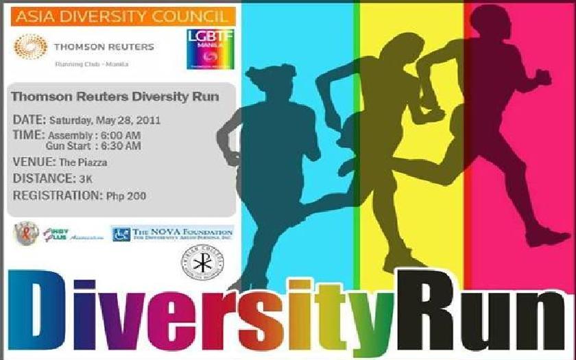 Diversity Run  2011 poster
