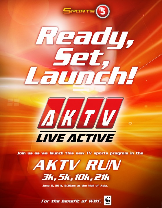 aktv fun run 2011 singlet and shirt