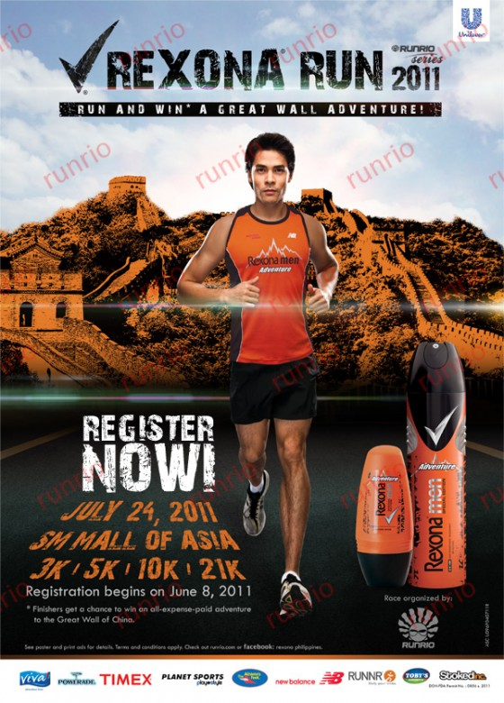rexona run 2011 results and photos