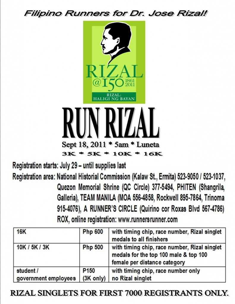 rizal run 2011 race results and photos
