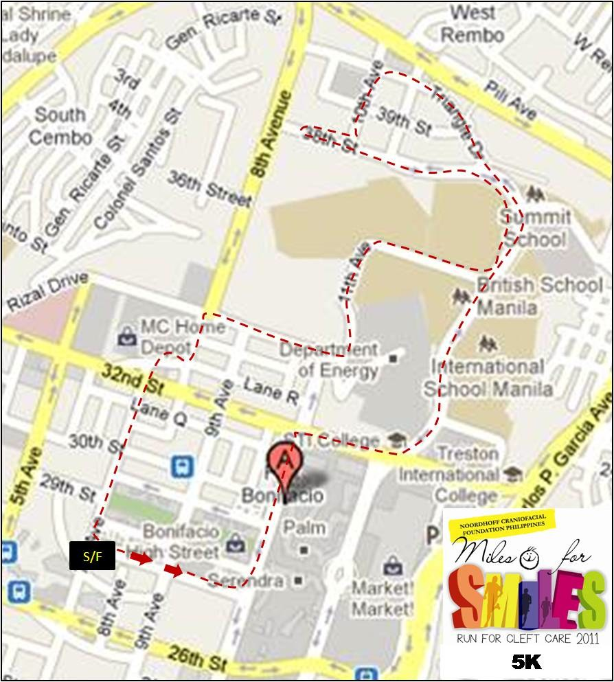 5k-Miles-for-Smiles-2011-Map