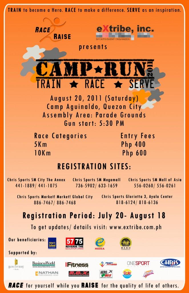 CAMP RUN 2011 Event Poster