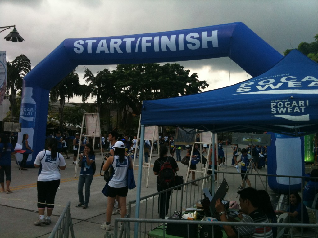 pocari sweat run 2011 finish line