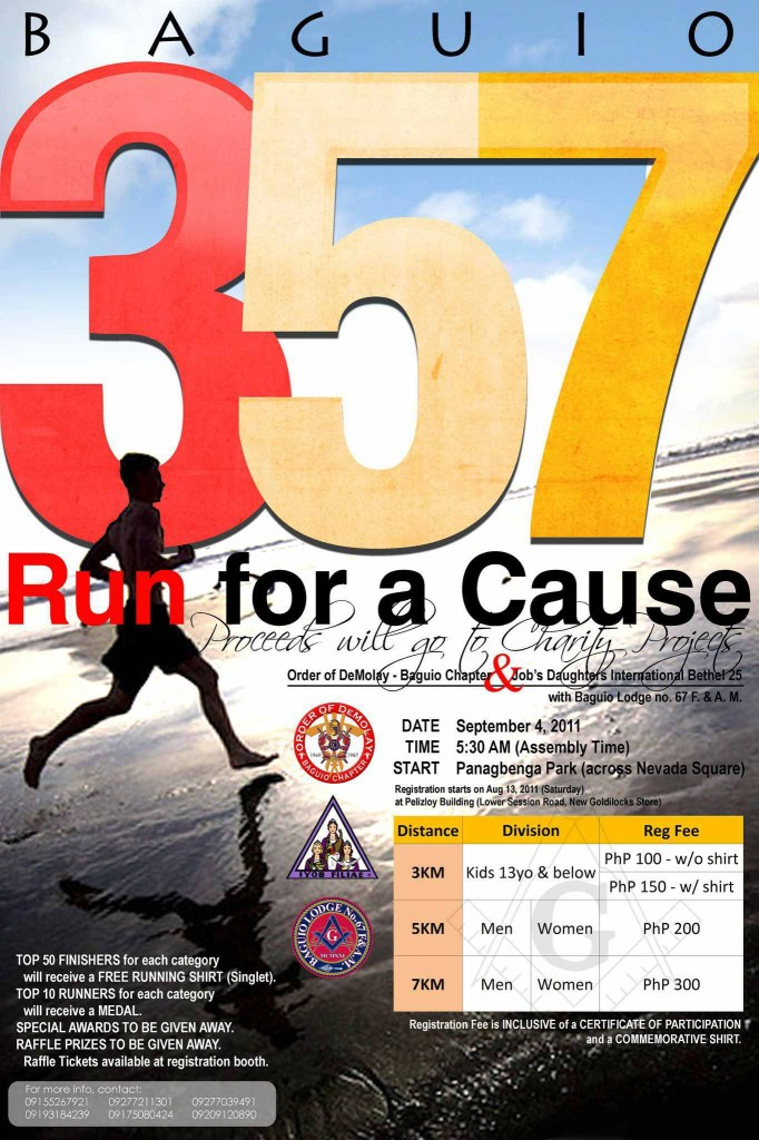 Baguio 357 Run for a Cause poster