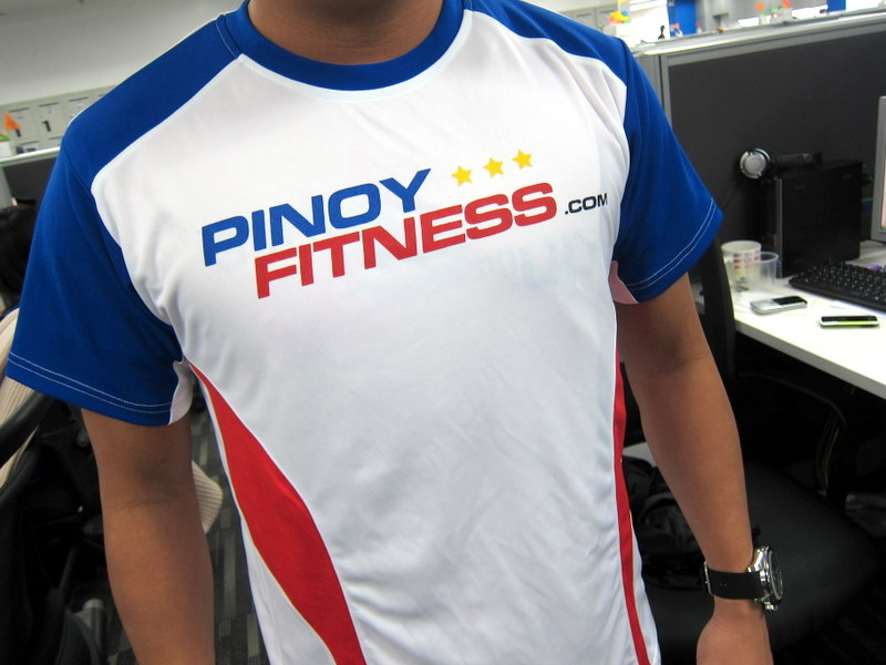 pinoy fitness shirt front design