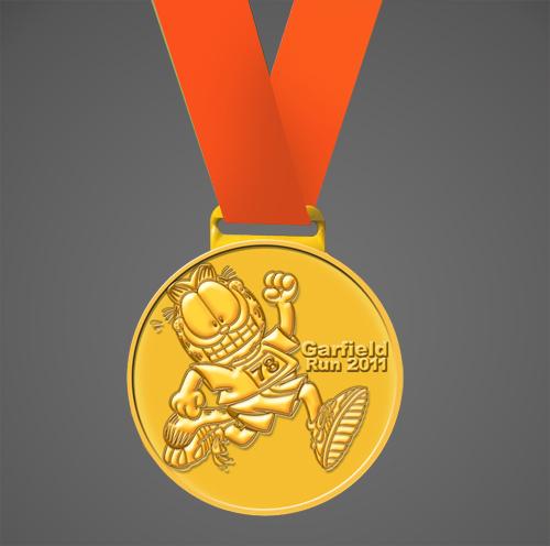 garfield-run-medallion-medal-2011