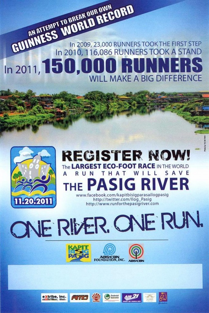 run for pasig river 2011 poster