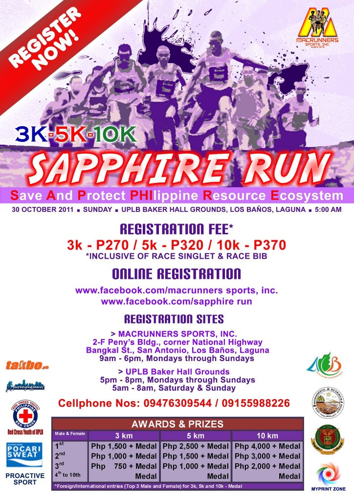 sapphire run results and photos