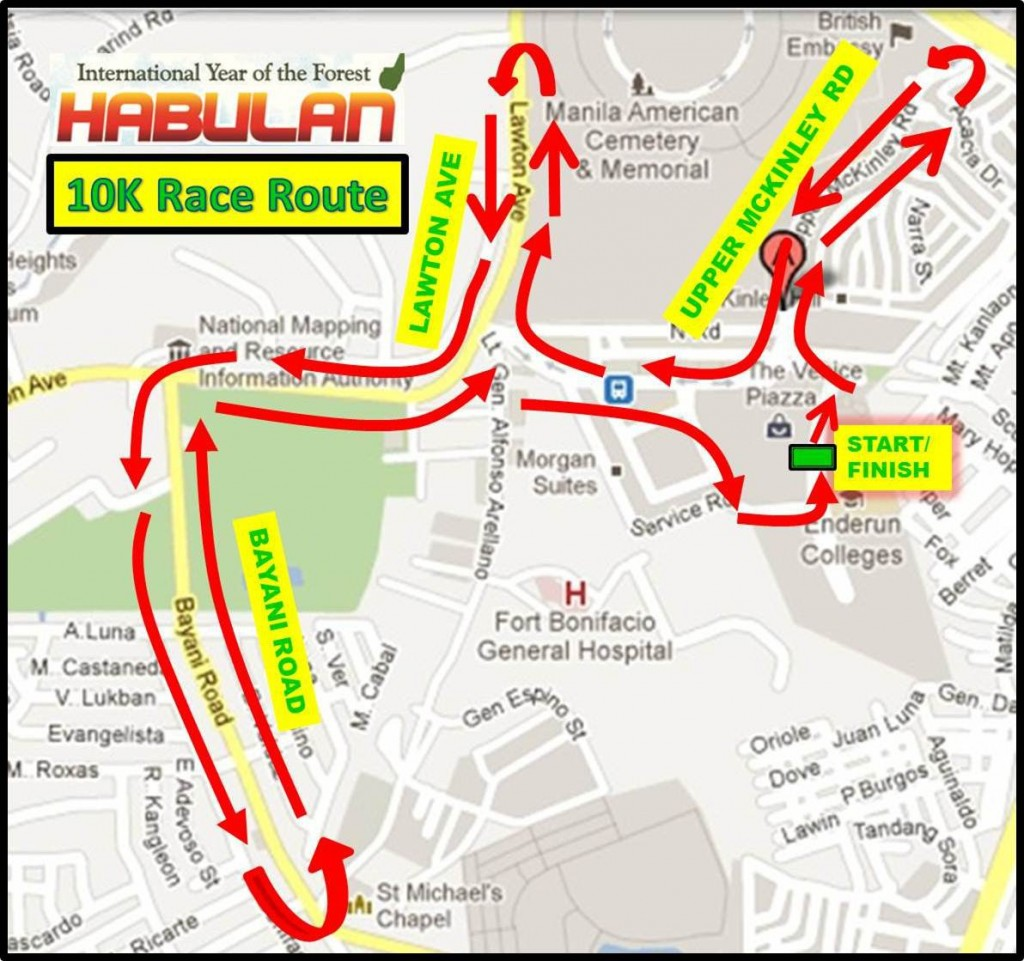 10K Race Route - Habulan 2011