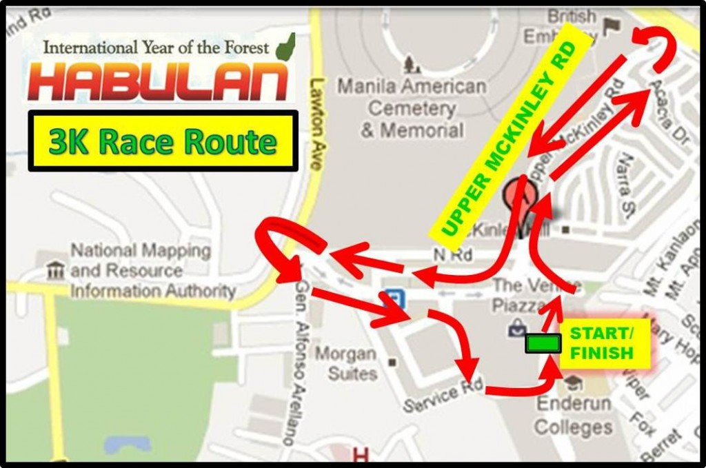 3K Race Route - Habulan 2011