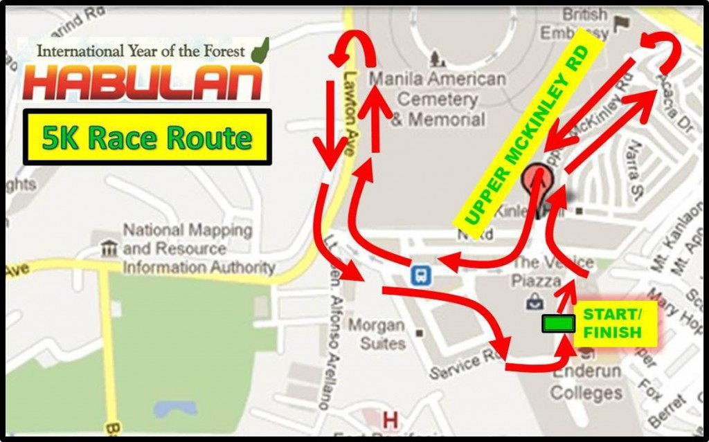 5K Race Route - Habulan 2011