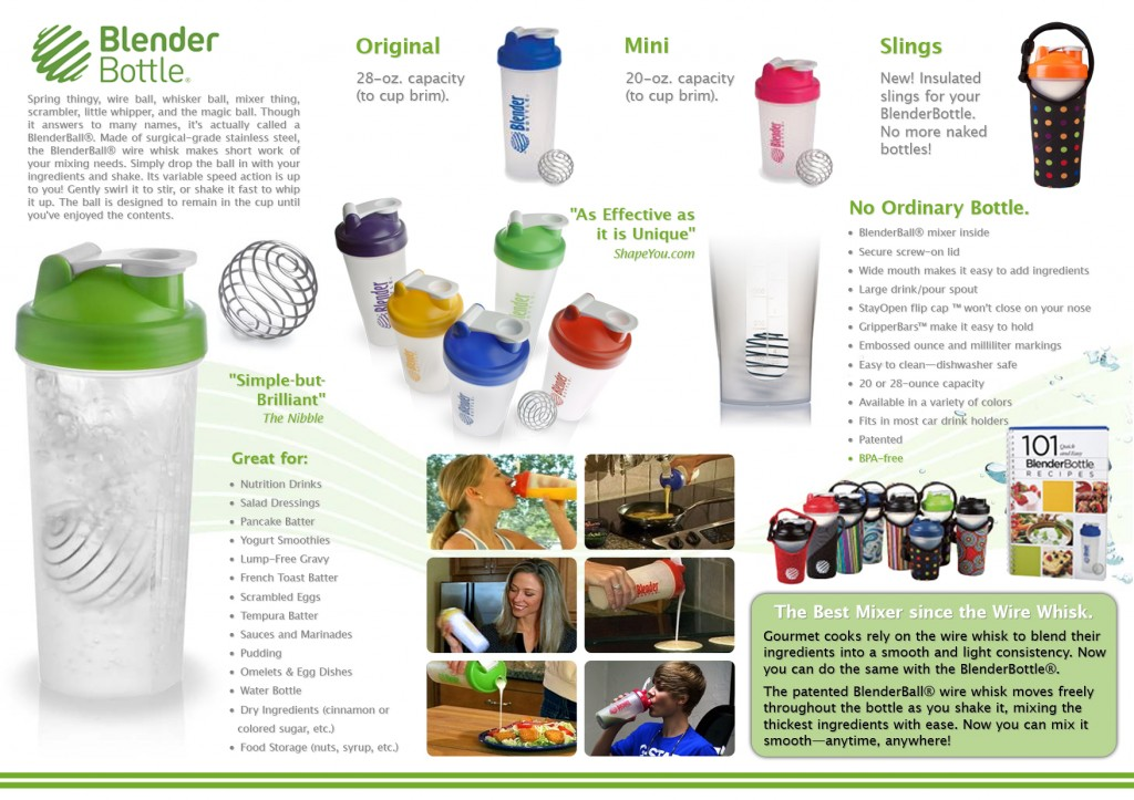 Blender Bottle Catalogue