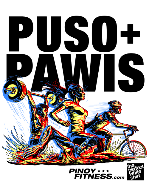 puso pawis pinoy fitness tech shirt
