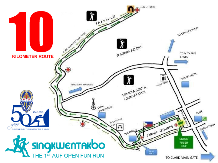 SingkwenTakbo 10K Map
