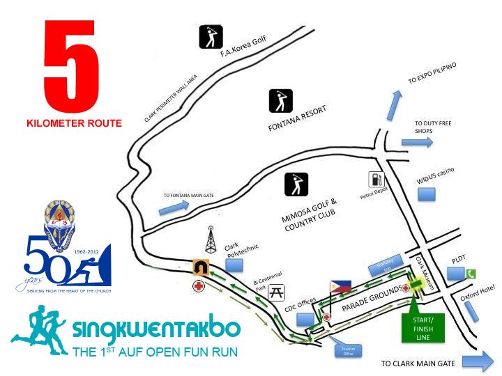 SingkwenTakbo 5K Map