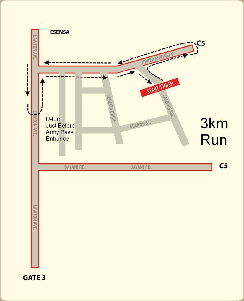 mchappy run - 3k map