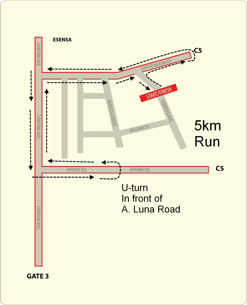 mchappy run - 5k map