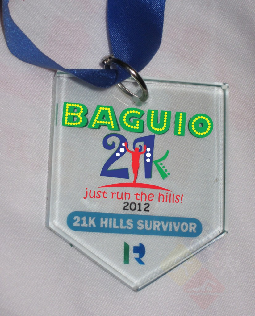 baguio 21k finisher medal