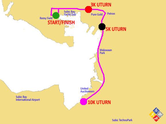 10K subic marathon 2012 map