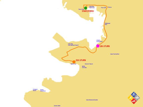 21K subic marathon 2012 map