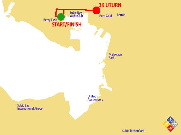 3K subic marathon 2012 map