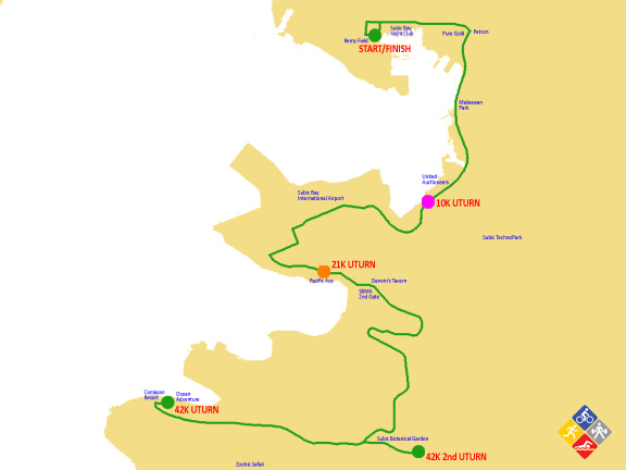42K subic marathon 2012 map