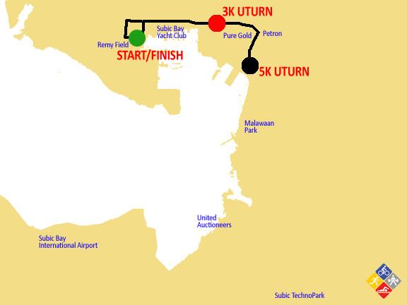 5K subic marathon 2012 map