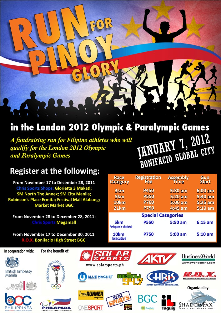 run for pinoy glory race results and photos