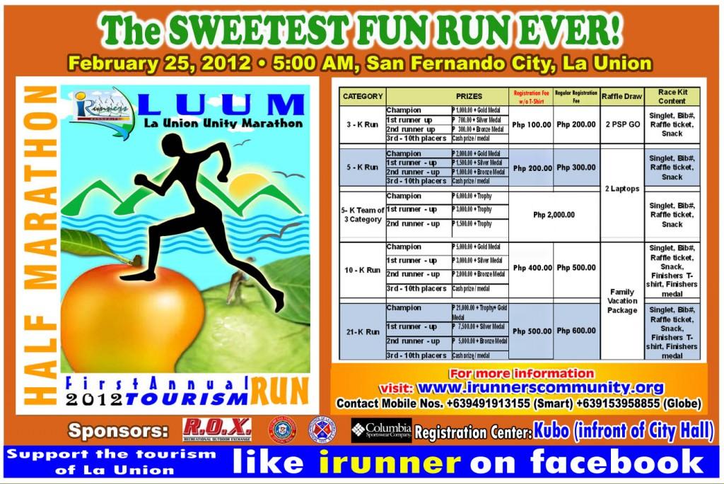 La Union Unity Marathon (LUUM) 2012 - poster