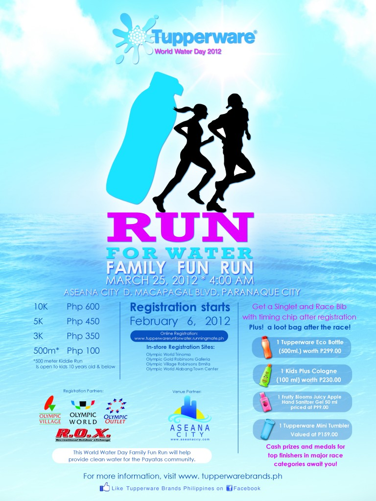 Tupperware Fun Run 2012 poster