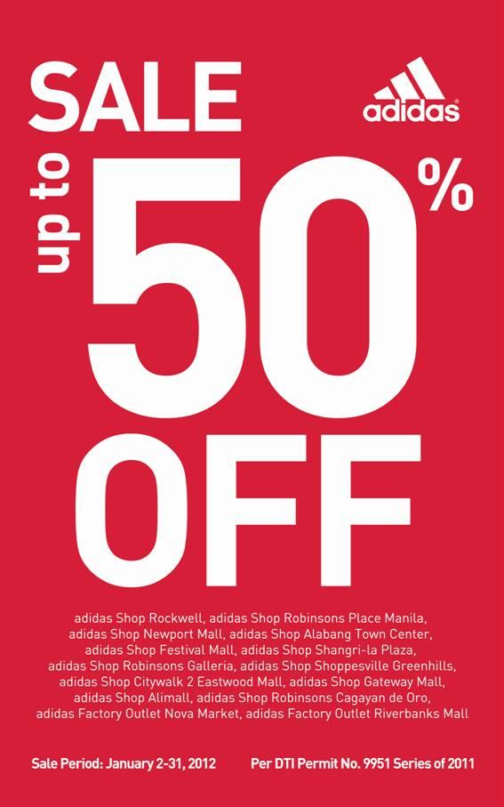 adidas sale 50 off 2012