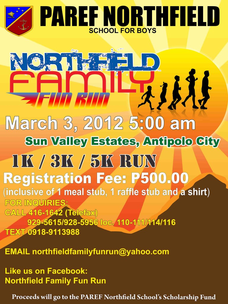 paref-northfield-family-fun-run-2012-poster