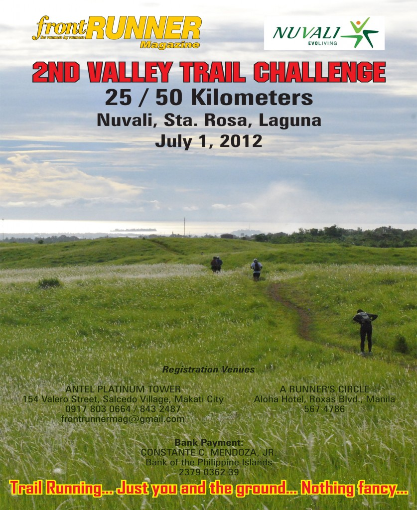 front RUNNER 2nd Valley Trail Challenge