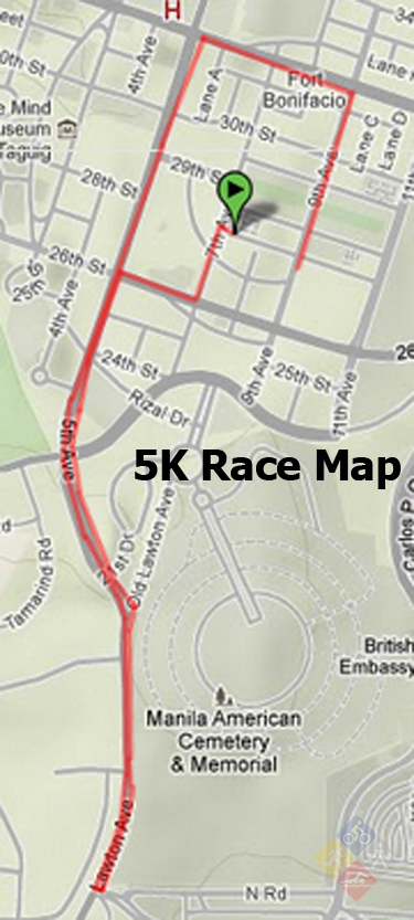 natgeo earth day run 2012 - 5k map
