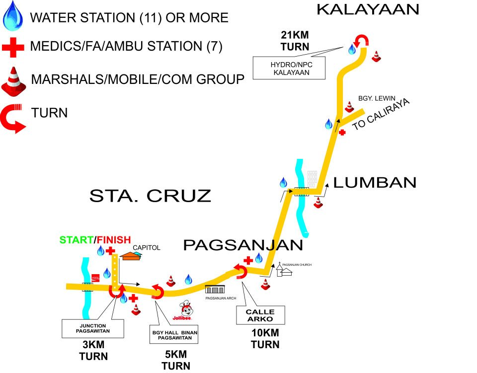 Save Laguna run 2012 Route