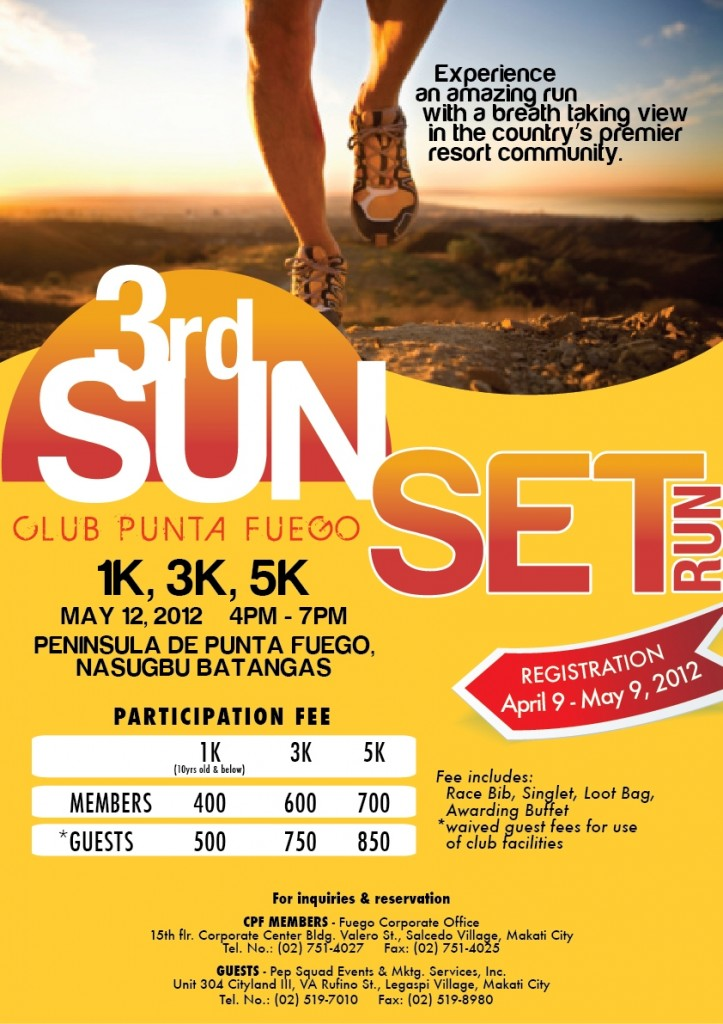 3rd Punta Fuego SunSet Run 2012 race results and photos